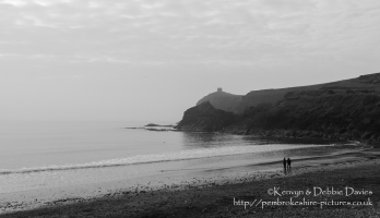 A misty evening in Abereiddy