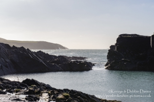 Looking out to sea from The Blue Lagoon in Abereiddy (Abereiddi)