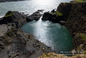 The Blue Lagoon in Abereiddy, Pembrokeshire