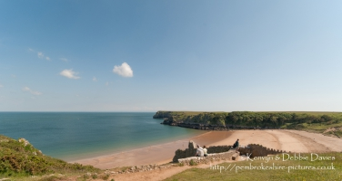 Barafundle Bay and beach in South Pembrokeshire