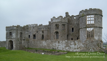 Carew Castle East Wall and gatehouse