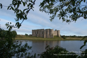 Carew Castle North West view