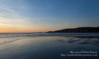 Newgale on a summer evening