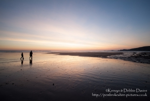 A walk on Newgale Beach