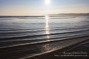 Reflections in Newgale, Pembrokeshire
