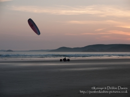 Kite buggying at Newgale, 21/05/10