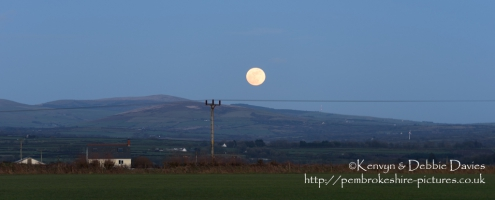 Rising Moon over The Preseli Hills, Pembrokeshire