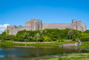 Pembroke Castle, Pembrokeshire. Built 1189-1219. Birthplace of Henry Tudor.