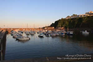 Saundersfoot, Pembrokeshire - Evening at the harbour