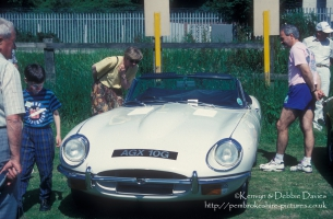 Jaguar E-Type at Classic Car Show Haverfordwest 1993