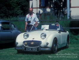 Austin Healey Frogeye Sprite at Classic Car Show Haverfordwest 1993