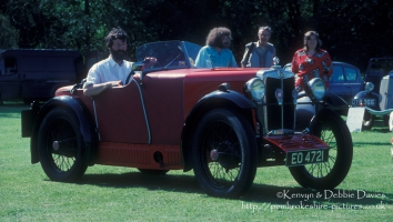 Vintage MG at Classic Car Show Haverfordwest 1993