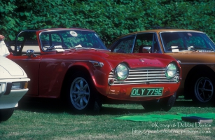 Triumph TR4A Roadster at Classic Car Show Haverfordwest 1993