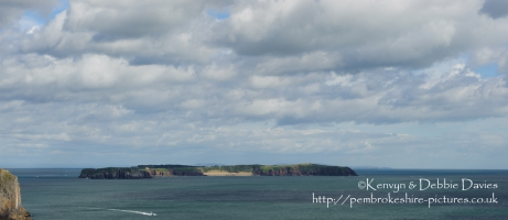 Caldey Isaland from Skrinkle Haven