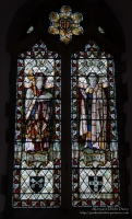 Stained Glass Windows in St Davids Cathedral, Pembrokeshire