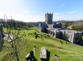 St Davids Cathedral and graveyard, Pembrokeshire