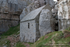 St Govan's Chapel, Pembrokeshire. St. Govan's Day is March 26th. Further inform...