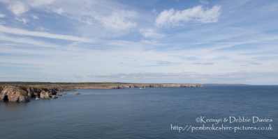 The Coast Around St Govan's Head.