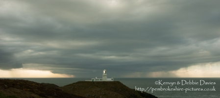 Strumble Head Lighthouse with storm approaching