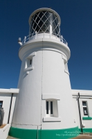 Strumble Head Lighthouse is built on Ynysmeicl (St. Michael's Island), an islet...