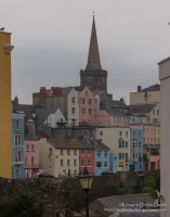Colourful Tenby on a bleak day