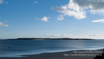 Caldey Island from Castle Beach, Tenby
