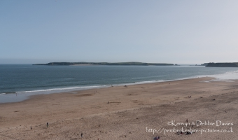 Caldey Island from South Beach, Tenby, Pembrokeshire