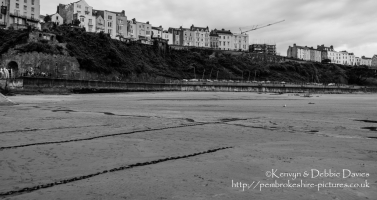 A wet day in Tenby, Pembrokeshire