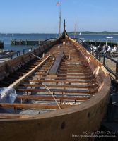 Partially constructed Viking long boat, 2004