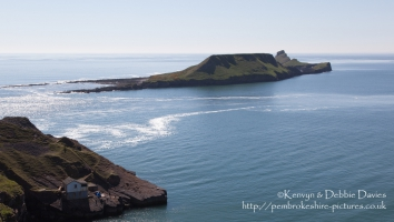 Worms Head in Rhossilli Bay, Gower