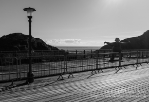 Nansi (formerly Norman) the gorilla on Mumbles Pier