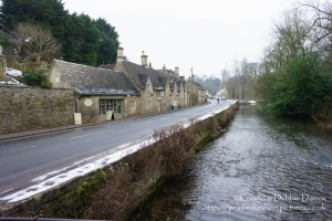 February Snow, Bibury in Wiltshire