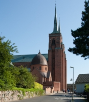 Roskilde Cathedral on the island of Zealand, Denmark